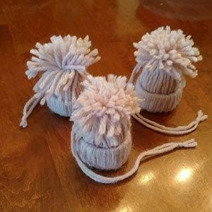 Yarn Beanie Hat ornaments